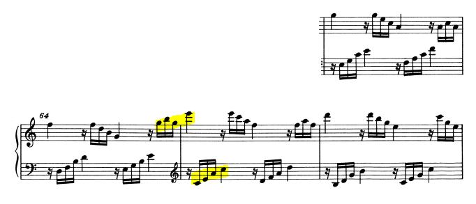 モーツァルトピアノソナタ16再現部4