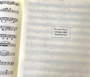 モーツァルト楽譜折り込み