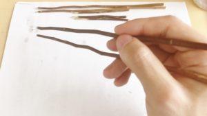 手作り箸使用感