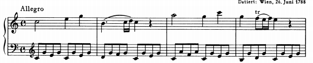 モーツァルトピアノソナタ16主題1
