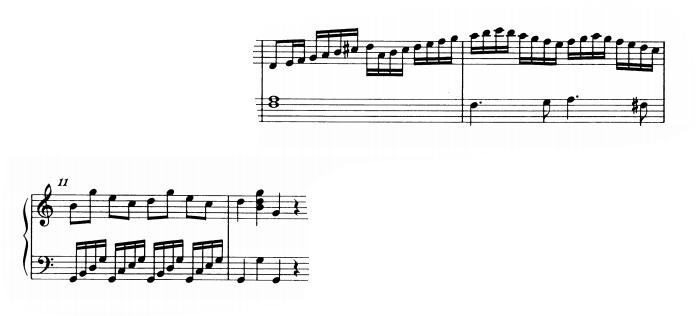 モーツァルトピアノソナタ16主題1-3