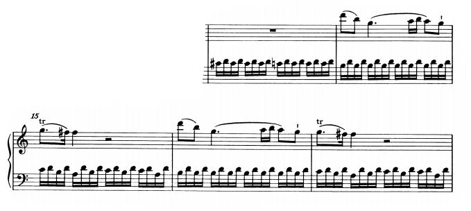 モーツァルトピアノソナタ16主題2