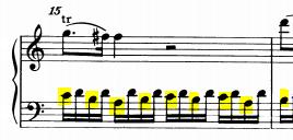 モーツァルトピアノソナタ16主題2-1-3