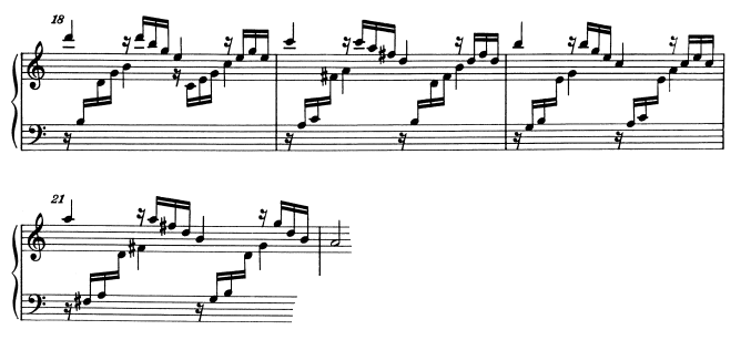 モーツァルトピアノソナタ16主題2-2