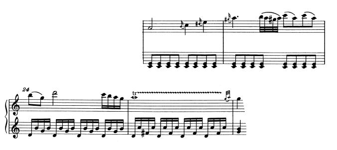 モーツァルトピアノソナタ16主題2-3
