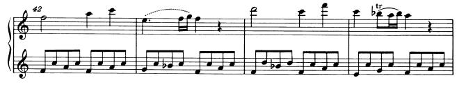 モーツァルトピアノソナタ16再現部