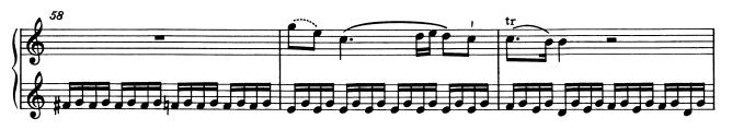 モーツァルトピアノソナタ16再現部3