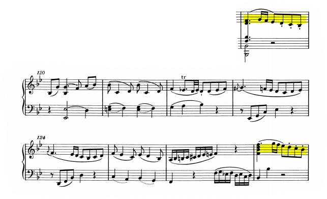 モーツァルトピアノソナタ13主題2