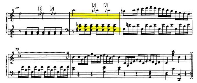 モーツァルトピアノソナタ16再現部5