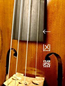 ヴァイオリン弦細さ