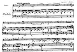 モーツァルトヴァイオリンソナタ第25番第一楽章