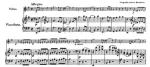 モーツァルトヴァイオリンソナタ第28番第一楽章