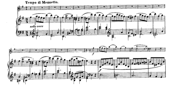 モーツァルトヴァイオリンソナタ第28番第二楽章