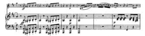 モーツァルトヴァイオリンソナタ第30番第一楽章第二主題