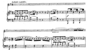 モーツァルトヴァイオリンソナタ第30番第二楽章