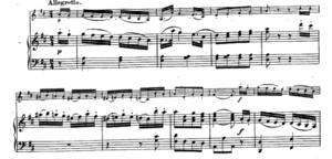 モーツァルトヴァイオリンソナタ第30番第三楽章