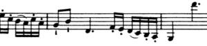 モーツァルトヴァイオリン協奏曲譜例