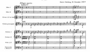 モーツァルトヴァイオリン協奏曲第5番冒頭