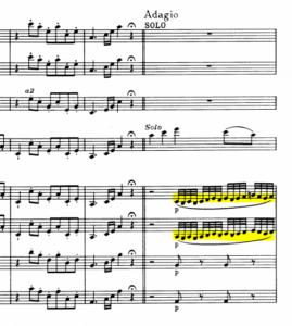 モーツァルトヴァイオリン協奏曲第5番ソロ入り