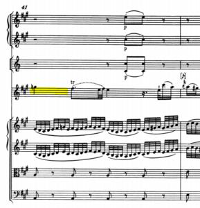 モーツァルトヴァイオリン協奏曲第5番ナチュラルのソ