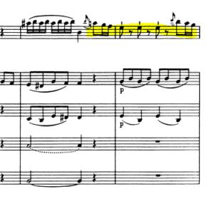 モーツァルトヴァイオリン協奏曲第5番第2主題