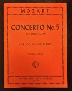 モーツァルトヴァイオリン協奏曲第5番インターナショナル版
